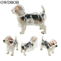 Waterproof Dog Raincoat Hood Transparent Pet Puppy Rain Coat Cloak Dogs Clothes