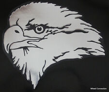 """Bald Eagle Window Graphic Decal American Patriotic Sticker """"Only chrome shows"""""""