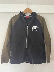Nike Air Black Khaki Hoodie Medium Zip Up