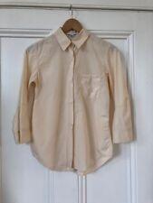 Jil Sander Net-a-Porter womens cream 100% cotton Italian made shirt sz 36