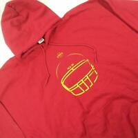 Iowa State Men 3XL Hooded Sweater Red Long Sleeve Pullover *04Z