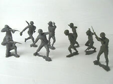 "LOT OF 9 VINTAGE 6"" ARMY MEN  MARX 1963 GERMAN SOLDIERS  USMC WWII SOLDIERS"