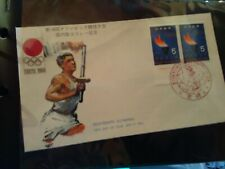 FRANCOBOLLO TOKYO SU BUSTA OLIMPIADI OLYMPIC GAMES 1964 FIRST DAY OF ISSUE