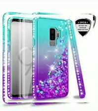 Samsung Galaxy S9 Case Glitter Bling with  Screen Protectors