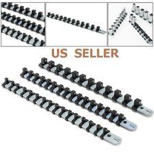 """3Pcs 1/4"""" 3/8"""" 1/2"""" Socket Tray Rail Rack Holder Storage Organizer Shelf Stand"""