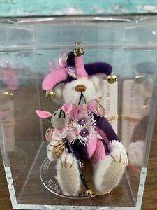 "Little Gem Teddy Bears Jester Limited Edition In Box Tiny Miniature 3"" Clown"