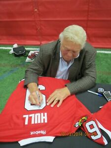 Chicago Black Hawks Bobby Hull Autographed  Red Jersey