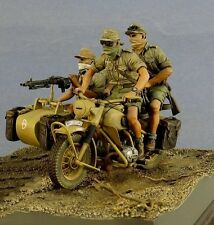 1/35 Scale Unpainted Resin Figures WWII Germans in North Africa (3 Figures)
