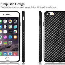 iPhone 6S 6 Luxury Carbon Fiber Ultra Slim Cover Case with Free Protector Glass