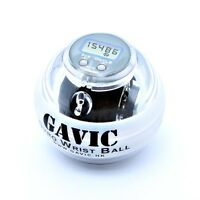 GAVIC Sports Forearm Exercises LED Gyro Wrist Ball W/ Speed Meter (Black Core)