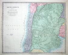 SOUTH AMERICA, CHILE, ARGENTINA  Stanford original antique map c1850
