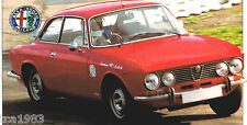 ALFA ROMEO 1750 GTV SPEC SHEET/Brochure:1969,1970,1971,