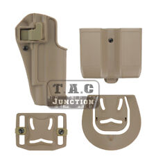 CQC Serpa Right Hand Waist Pistol Holster w/ Magazine Pouch for Colt 1911 M1911