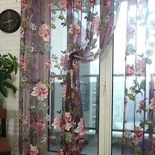 Schlaufenschal Blume Gardine Schlaufen Tür Fenstervorhang Vorhang Dunkel lila