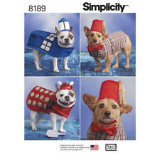 DOG PET CLOTHES SEWING PATTERN S8189 COAT HAT BOW TIE 3 DESIGNS SIZE S TO L NEW