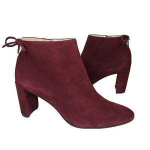 Stuart Weitzman women Boots Lofty Bordoux wine suede Ankle Booties Sz 9.5 $535