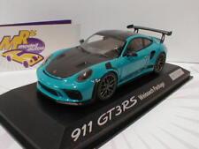 "Minichamps-Porsche 911 (991) gt3 RS año 2017 Weissach ""miami azul"" 1:43 nuevo"