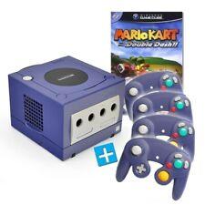 Nintendo GameCube - console #purple + Mario Kart + 4 gamepads + equipment