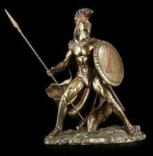 LEONIDAS Large Greek Warrior SPARTAN KING Statue With Spear & Hoplite Shield.