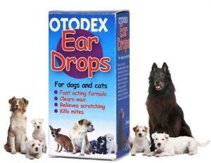 *Otodex Cat and Dog Ear Drops - kills mites removes wax 14ml