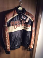 Harley Davidson Men Prestige Leather USA Made Jacket Bar & Shield 97000-05VM M