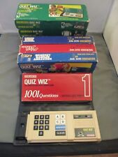 1980's Coleco QUIZ WIZ Electronic Handheld Game & 7 Book Lot WOW