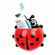 Lovely Big Ladybird Novelty Toothbrush Holder With Suction Cup Toothpaste Holder