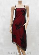 Robe Tunique XANAKA T 38 M 2 Bordeaux Résille doublé Floral Fête Tunic Dress TBE
