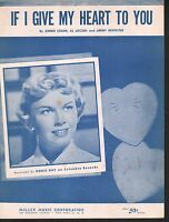 If I Give My Heart To You 1954 Doris Day Sheet Music