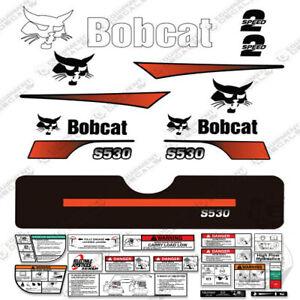 Bobcat S530 Compact Track Loader Decal Kit Skid Steer (Curved Stripes)