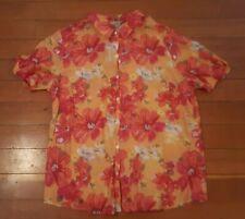 White Stag Womens Size XXL rayon nylon floral blouse shirt (1)