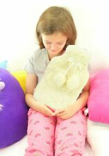 Slumberzzz Lush Plush with Pom Pom Hot Water Bottle 2 Litre, Cream or Pink