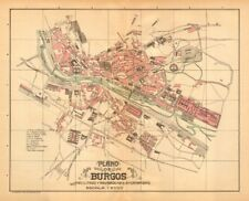 BURGOS. Plano antiguo de la cuidad. Antique town/city plan. MARTIN c1911 map