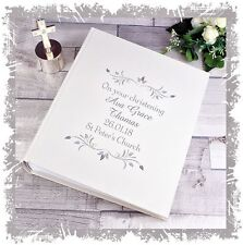 Christening Photo Album personalised gift for Baby girl or baby Boy present #1