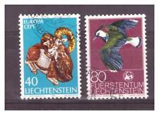 LIECHTENSTEIN .    N° 585/586.  2 VALEURS  EUROPA      OBLITEREES   .SUPERBE .