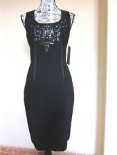 AIDAN MATTOX Vestido negro Fiesta Cóctel Talla EU38 40 Nuevo PVP: 299€