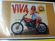 Vintage Montessa Motorcycle Poster