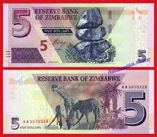 ZIMBABWE 5 Dollars dolares 2019 Pick NEW SC / UNC