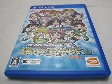 7-14 Days to USA. PS Vita The IdolM@ster Must Songs Blue Ban Japanese Version