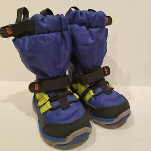 ** Stride Rite made2play Sneaker Snow Boot - Blue Yellow Toddlers Size 4.5 M