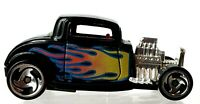 1997 Hot Wheels Black 1/64 Die Cast '32 Ford Coupe w/Flames Loose