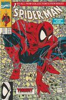 """SPIDER-MAN #1 (1990) MARVEL COMICS GREEN COVER """"TORMENT"""" Pt 1 TODD McFARLANE"""