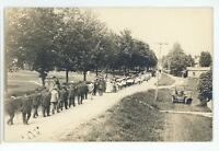 RPPC Parade American Flag in PULTENEY NY Real Photo New York Postcard