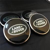 GENUINE LAND RANGE ROVER VELAR EVOQUE  BLACK ALLOY WHEEL CENTRE CAPS