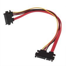 Male to Female 7+15 Pin Serial ATA SATA Data power combo extension Cable GA