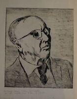 EXPRESSIONIST AUGUST WILHELM DRESSLER 1886 - 1970 - PORTRAIT BLINDER MANN