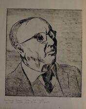 EXPRESSIONIST agosto Wilhelm Dressler 1886 - 1970-Portrait cieca Uomo
