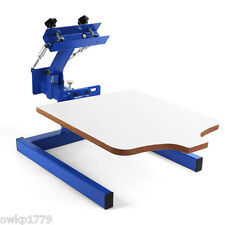1 Color 1 Station Silk Screen Printing Machine 1-1 Press DIY T-Shirt Printing