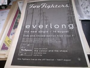 FOO FIGHTERS, EVERLONG SINGLE RELEASE COLLECTORS ITEM/ GIG  POSTER 1997 FRAMING