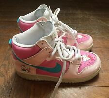 hello kitty nike dunks sneakers womens size 6.5 baby pink nikes kawaii